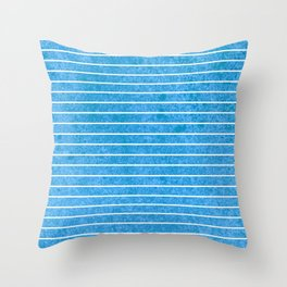 small blue straight lines Throw Pillow