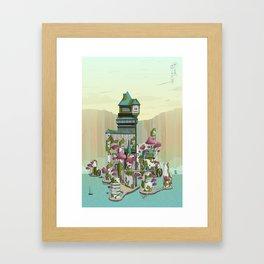 Paradise Waterfalls Framed Art Print