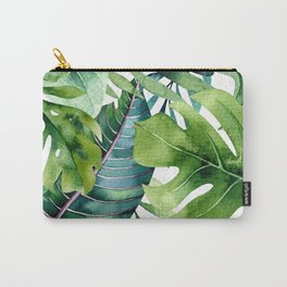 Tropical Jungle Leaves Carry-All Pouch