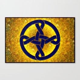 Celtic Knot Blue & Gold Canvas Print