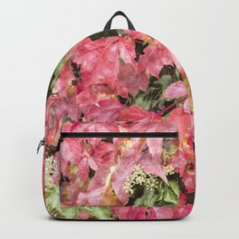 Red climbing ivy leaves Backpack