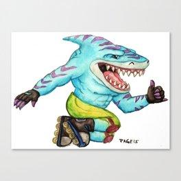 Streex the Street Shark Canvas Print