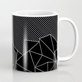 Ab Lines 45 Grey and Black Coffee Mug