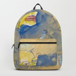 sketch of two women in a coffee bar Backpack