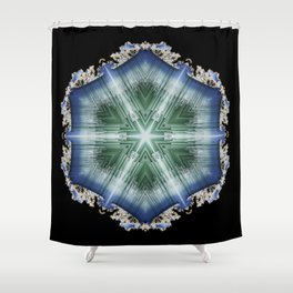 Frozen Mandala  Shower Curtain