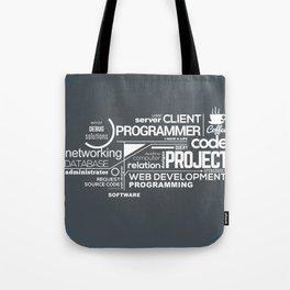 Programmer: Typography Programming 2 Tote Bag