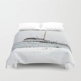 SS Keewatin in Winter White Duvet Cover