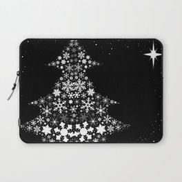 Snowflake Christmas Tree Laptop Sleeve