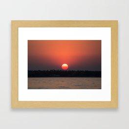 Really red sun Framed Art Print