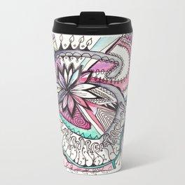 Watercolor Zentangle Travel Mug