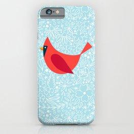 Cardinal Flowers, Carolina Blue iPhone Case