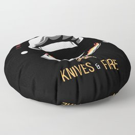 Koch Play With Knives And Fire Floor Pillow