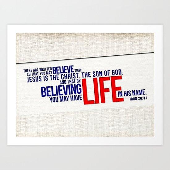 Life in His Name Art Print