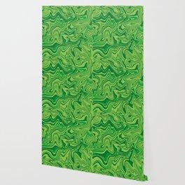Green Agate Liquid Marble Wallpaper