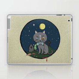 Cats love zombie meat! Laptop & iPad Skin