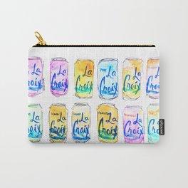 Watercolor La Croix Carry-All Pouch
