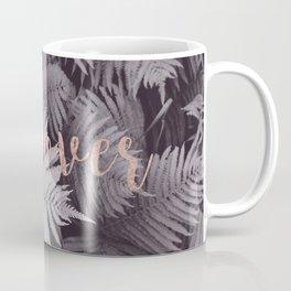 Rose gold discover - sepia fern Coffee Mug
