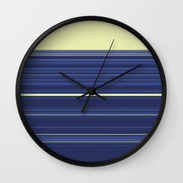 Light Yellow and Blue Stripes Wall Clock