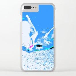 Pop Art Fennec Fox Clear iPhone Case