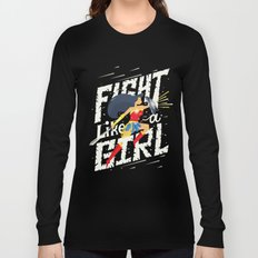 Fight like a girl Long Sleeve T-shirt