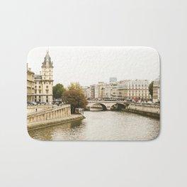 Le Seine River in Paris. Bath Mat