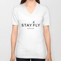 neverland V-neck T-shirts featuring Stay Fly - Neverland by stella nova