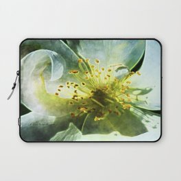 Yellow Rose Center with smokey overlay by CheyAnne Sexton Laptop Sleeve
