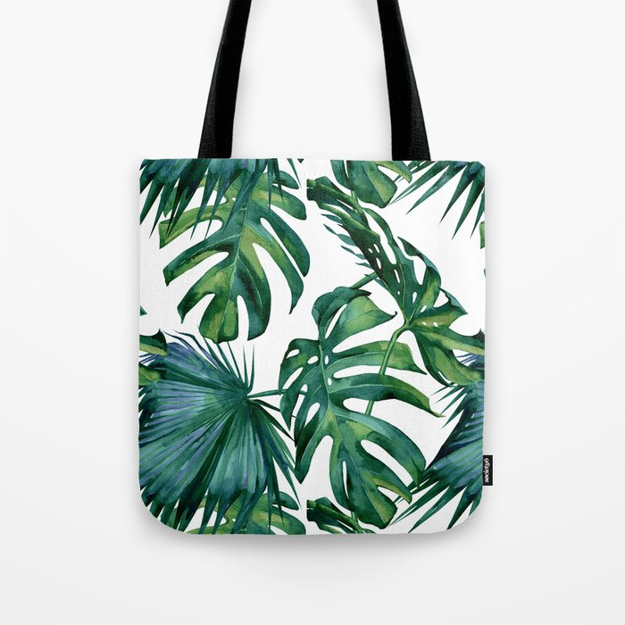 Classic Palm Leaves Tropical Jungle Green Umhängetasche