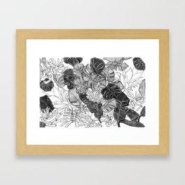 BOTANICAL MESS Framed Art Print
