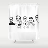 cactei Shower Curtains featuring The NBHD by ☿ cactei ☿