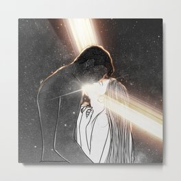 Light is in our hearts. Metal Print