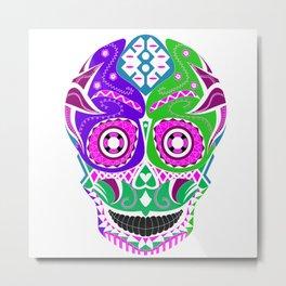 lucha libre sugar skull ecopop Metal Print