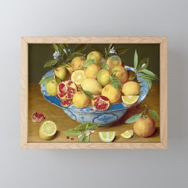 Still Life with Lemons, Oranges and a Pomegranate Framed Mini Art Print