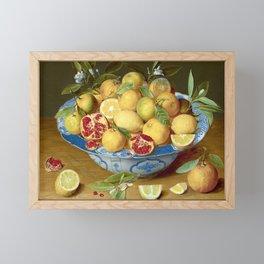 Still Life with Lemons, Oranges and a Pomegranate Framed Mini Art Print