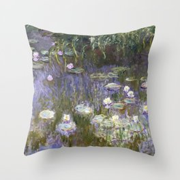 Water Lilies 1922 by Claude Monet Throw Pillow