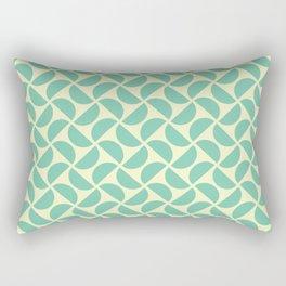 HALF-CIRCLES, SEAFOAM Rectangular Pillow