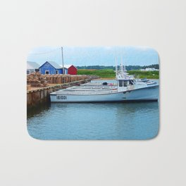 Lobster Boats and Traps Bath Mat