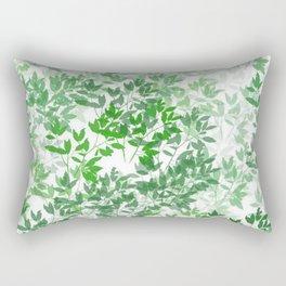 Inspirational Leafy Pattern Rectangular Pillow