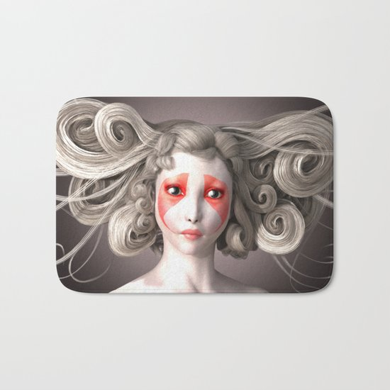 Japanese fashion model Bath Mat