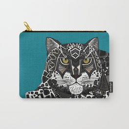 snow leopard teal Carry-All Pouch