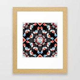 Lovebird Lattice Framed Art Print