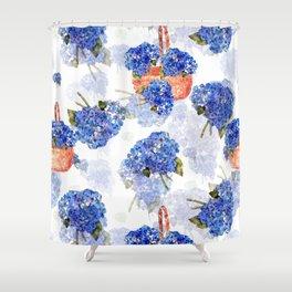 Cape Cod Hydrangeas and Baskets Shower Curtain