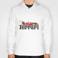 ferrari Hoodies featuring Ferrari F1 by Lewys Williams