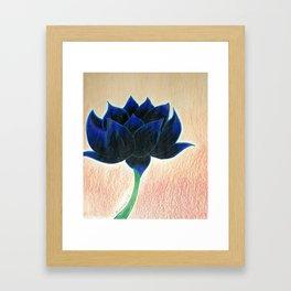 Black Lotus Flower Framed Art Print