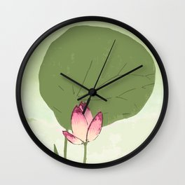 Survive like a lotus flower, rising from the muc Wall Clock