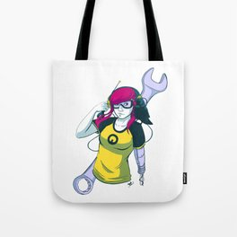 Android Girl with Crow Tote Bag