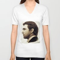 lee pace V-neck T-shirts featuring Lee Pace by LindaMarieAnson