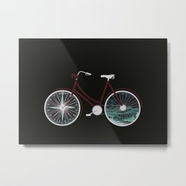 Cycle Adventure Metal Print