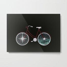 Cycle Adventure Metal Print