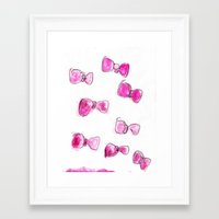 bows Framed Art Prints featuring Bows  by BruiseViolet